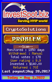 CryptoSolutions, Monitored by InvestSpot