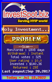 www.investspot.biz - hyip roly investment