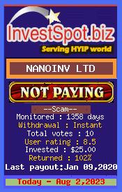 ссылка на мониторинг https://investspot.biz/?a=details&lid=10564