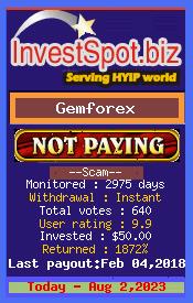 www.investspot.biz - hyip gem forex