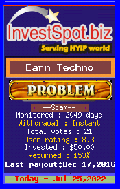 www.investspot.biz - hyip earn tech ltd