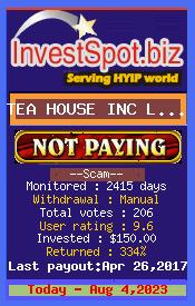 www.investspot.biz - hyip tea house inc