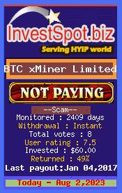 www.investspot.biz - hyip btcx miner