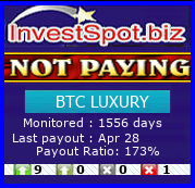 BTC LUXURY - Monitored by HYIP Monitor InvestSpot